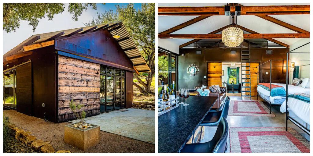 The Tipsy Beach Barn, a cabin rental in Texas.