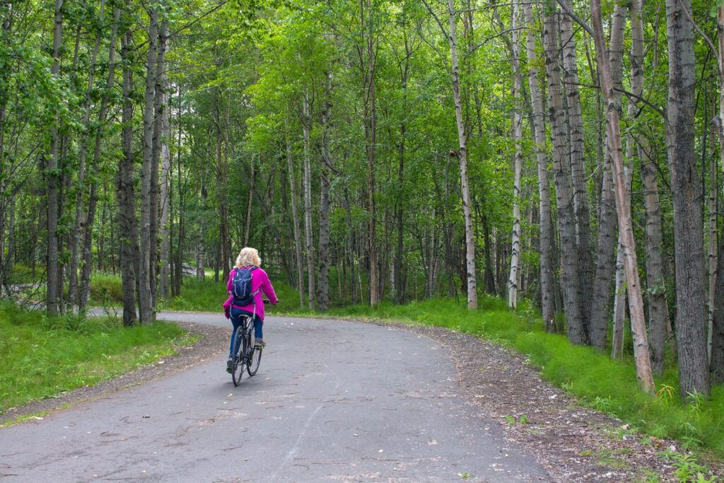 The Tony Knowles Coastal Trail in Anchorage.