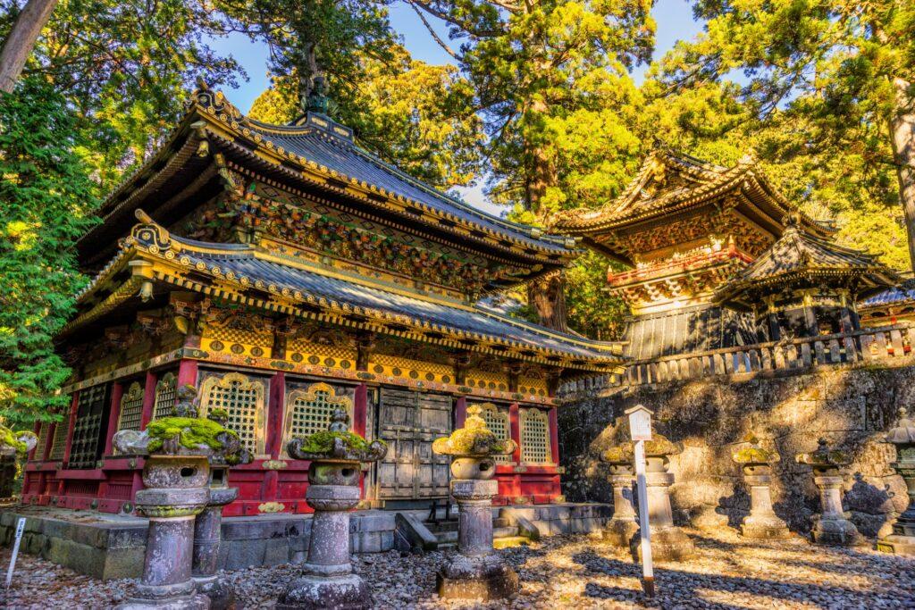 The Toshogu Shrine in Nikko, Japan.