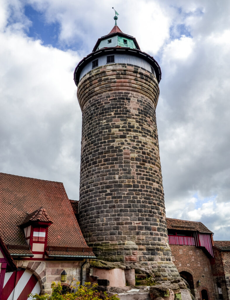 The tower at the Imperial Castle Of Nuremberg.