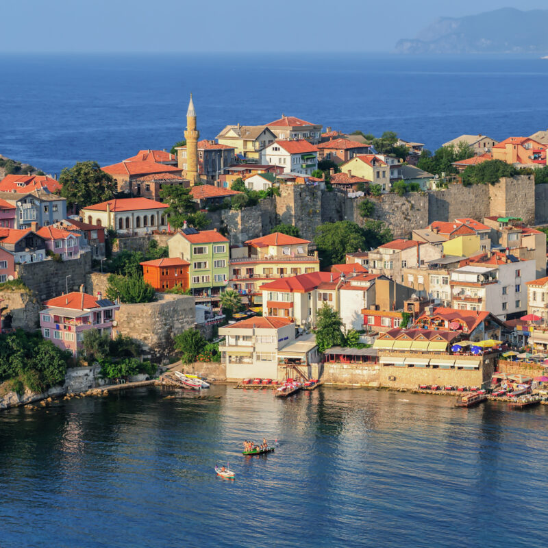 The town of Amasra along the Black Sea Coast of Turkey.