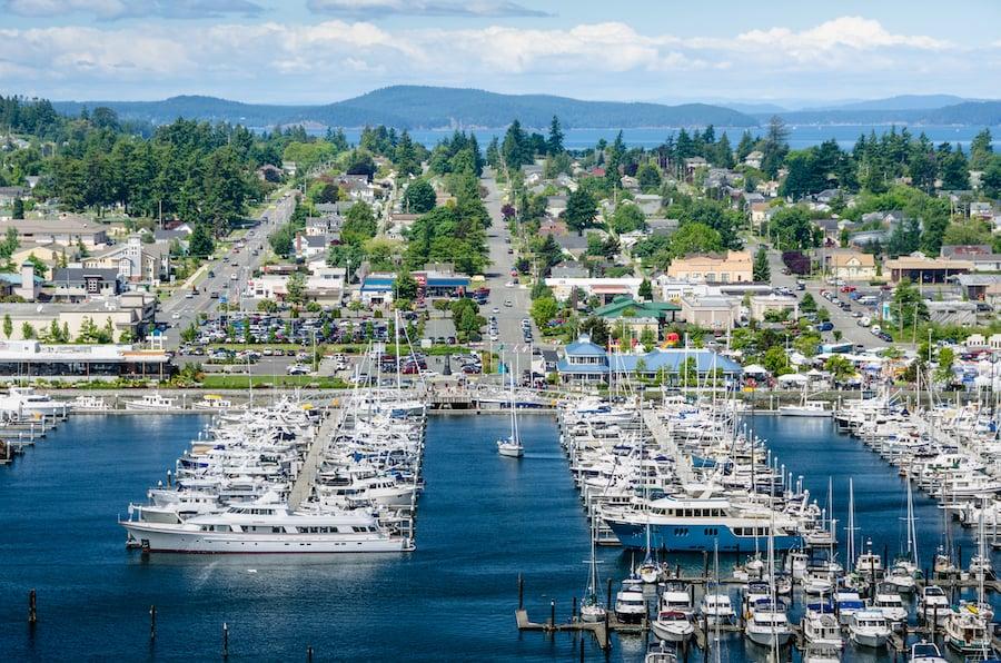 The town of Anacortes in Washington.