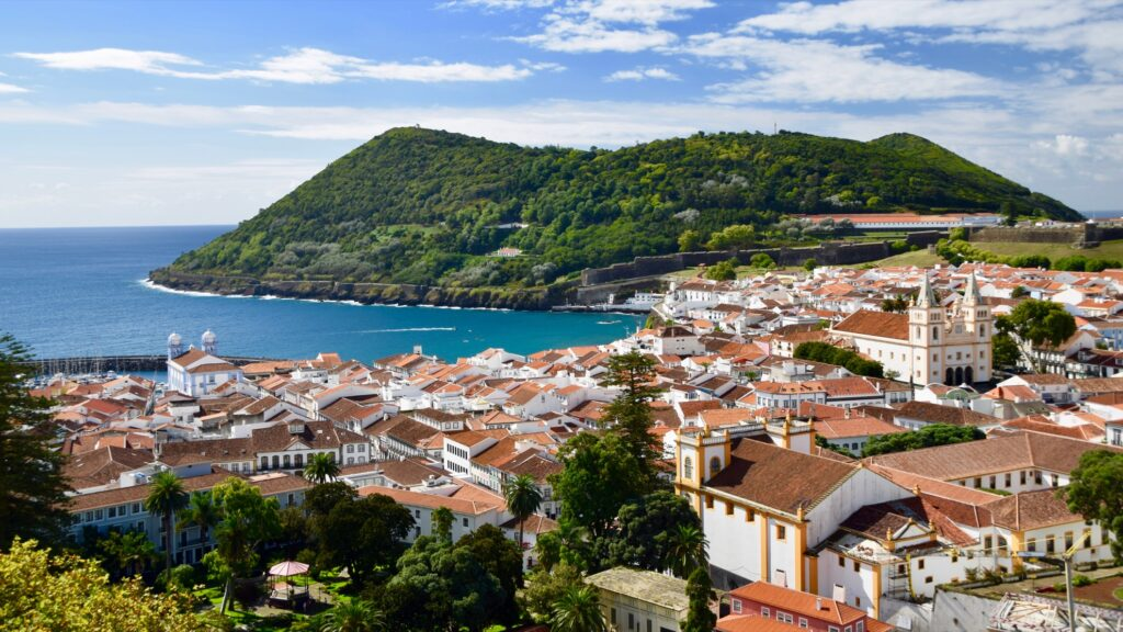 The town of Angra do Heroismo in the Azores.