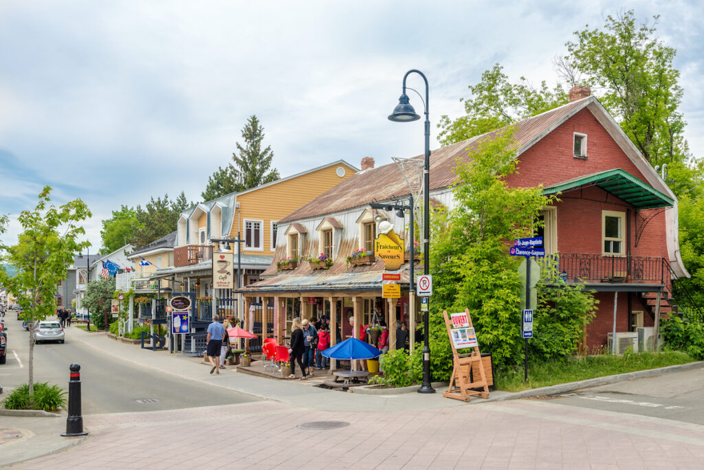 The town of Baie-Saint-Paul in Quebec, Canada.