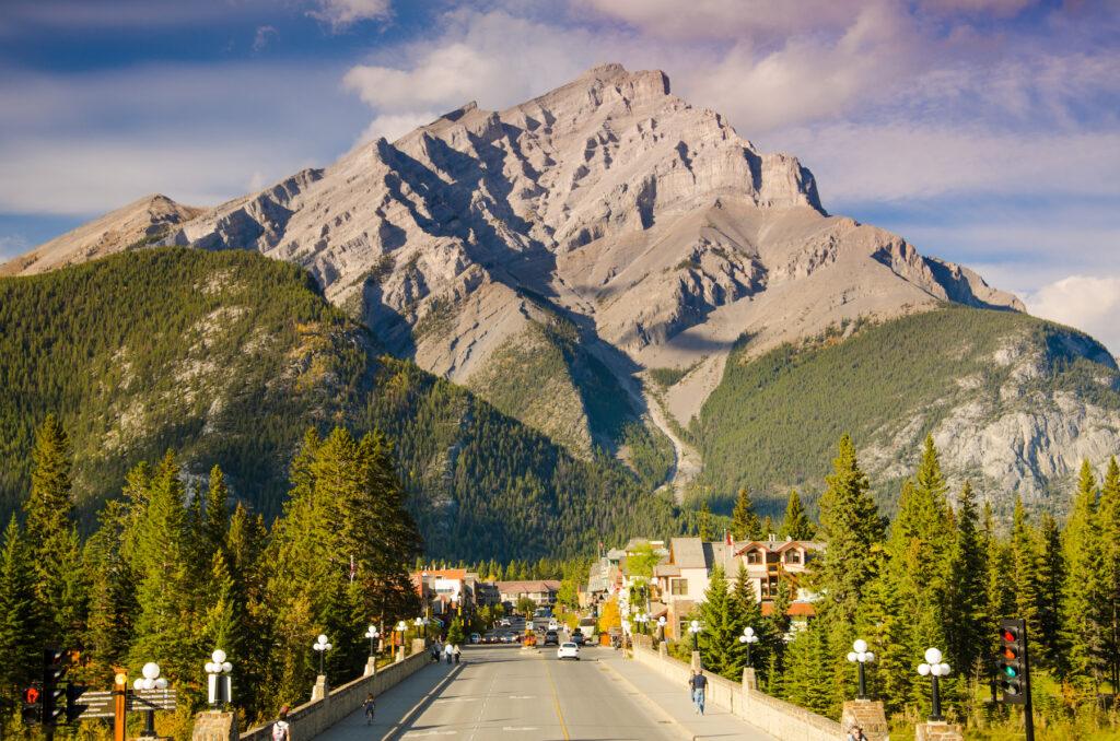 The town of Banff, Alberta.