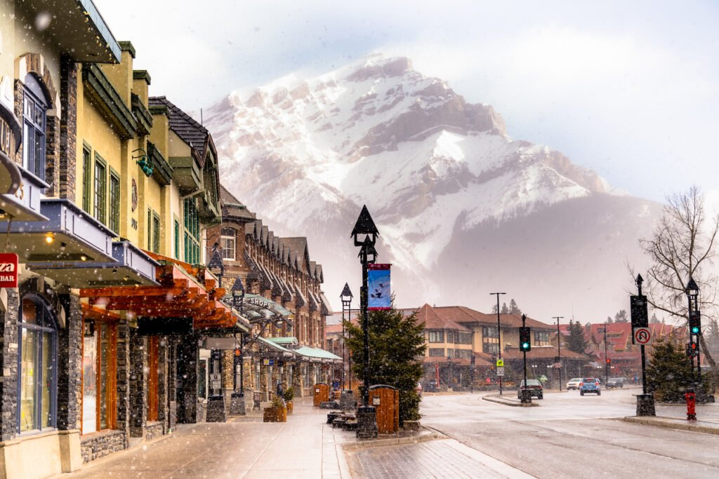 The town of Banff in Alberta, Canada.