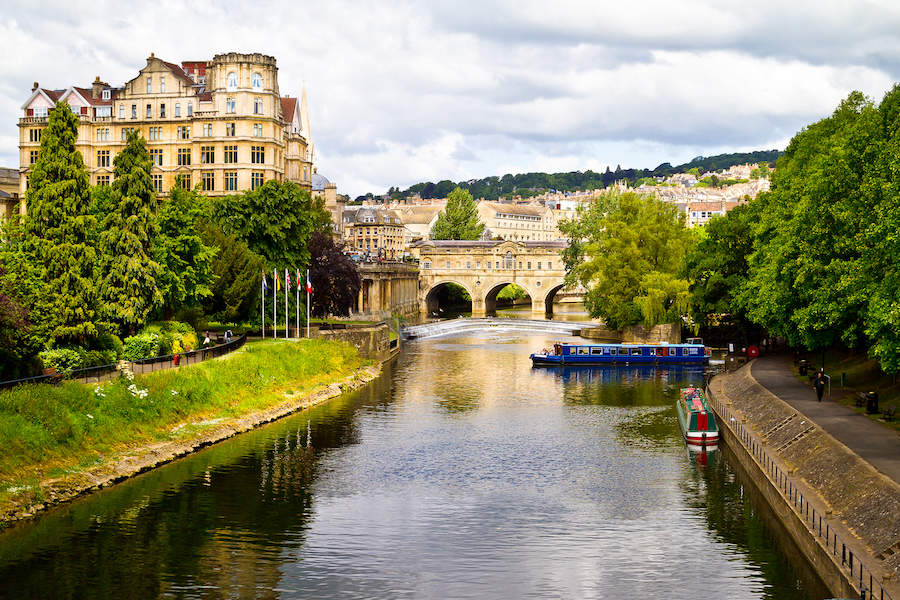 The town of Bath in Somerset, England.
