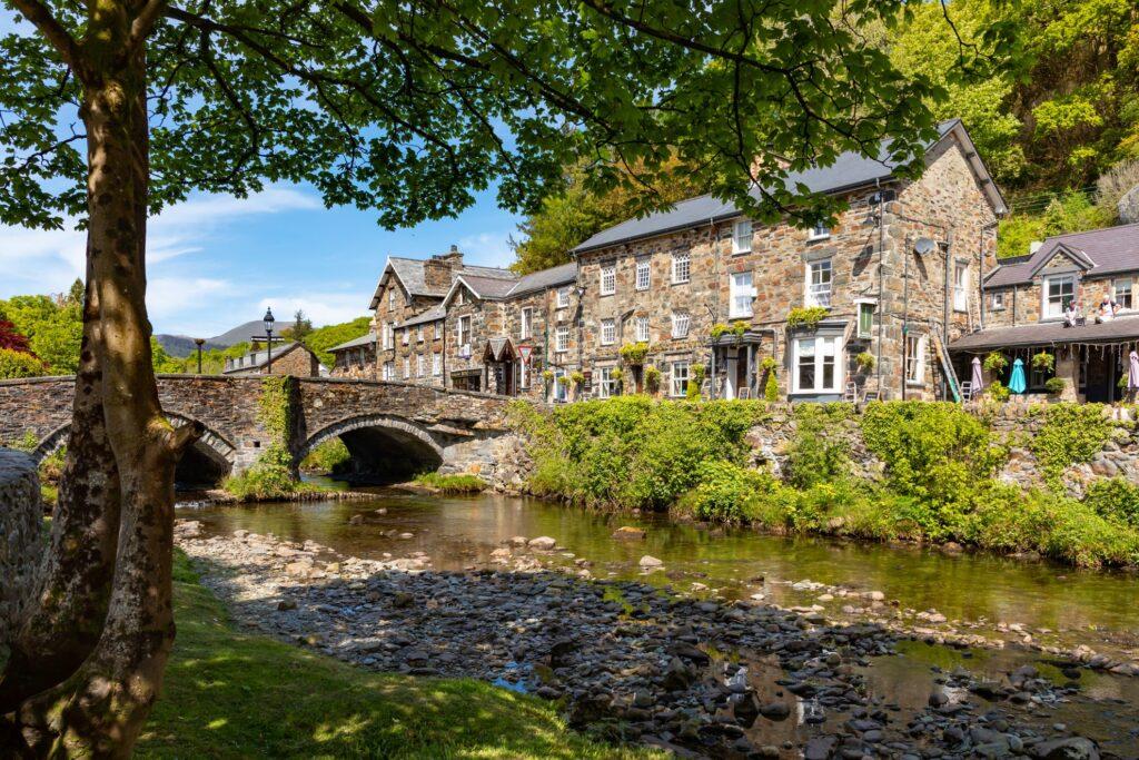 The town of Beddgelert in Snowdonia.