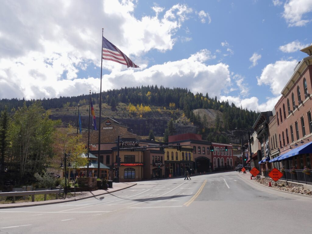 The town of Black Hawk, Colorado.