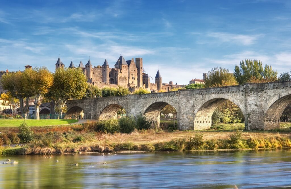 The town of Carcassonne in France.