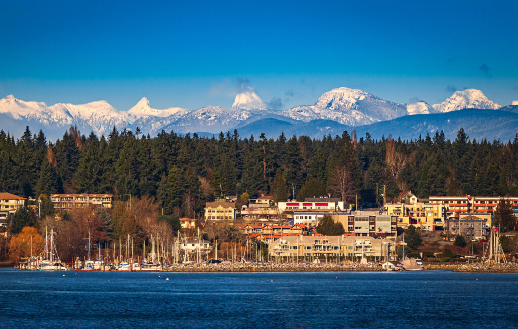 The town of Comox in British Columbia.