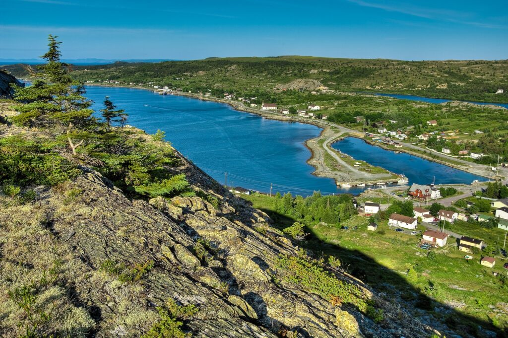 The town of Cupids, Newfoundland.