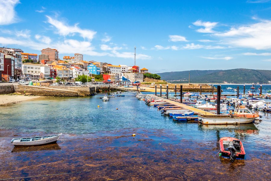 The town of Finisterre in Galicia, Spain.