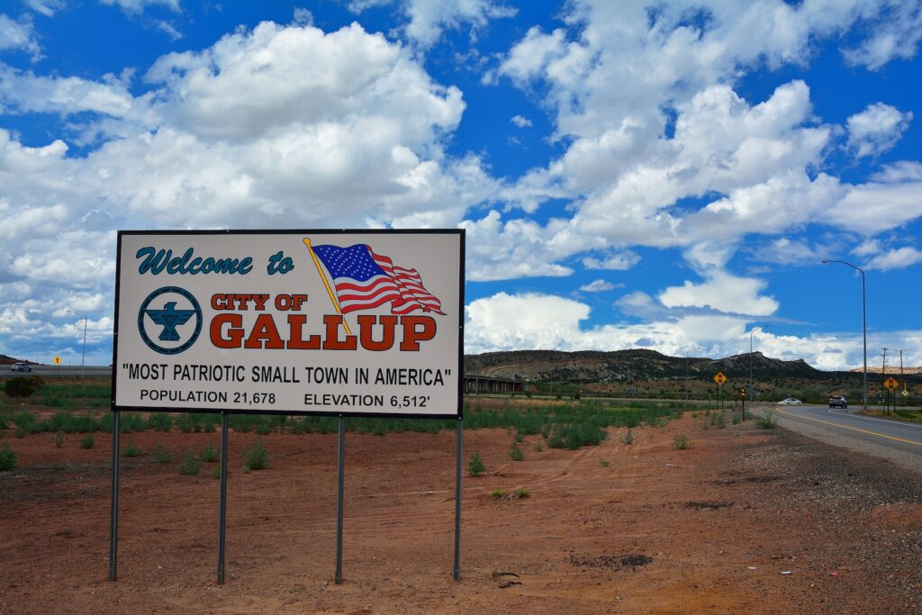 The town of Gallup, New Mexico.