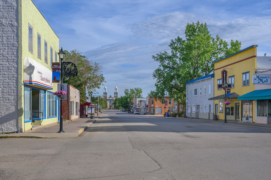 The town of Gravelbourg in Canada.