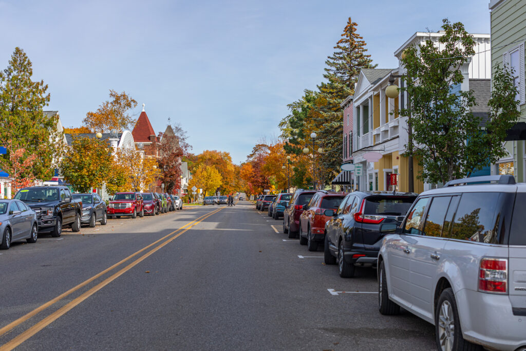 The town of Harbor Springs, Michigan.