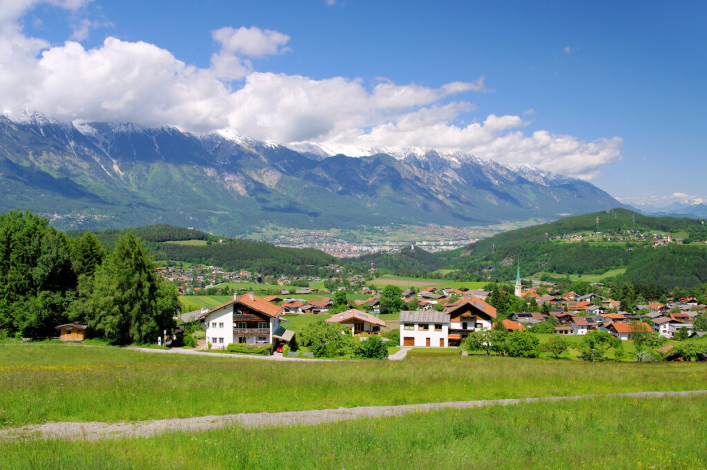 The town of Innsbruck, Austria.