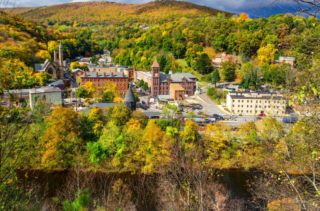 The town of Jim Thorpe in Pennsylvania.