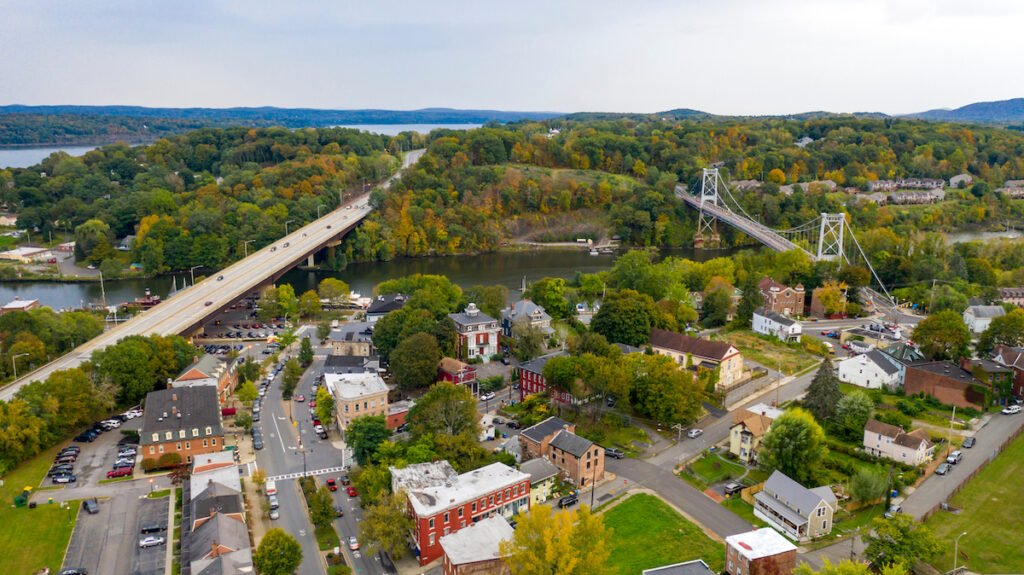 The town of Kingston in the Hudson Valley.