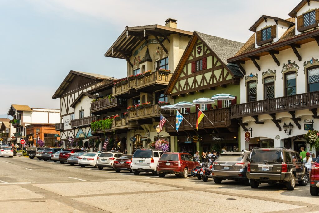 The town of Leavenworth in Washington.