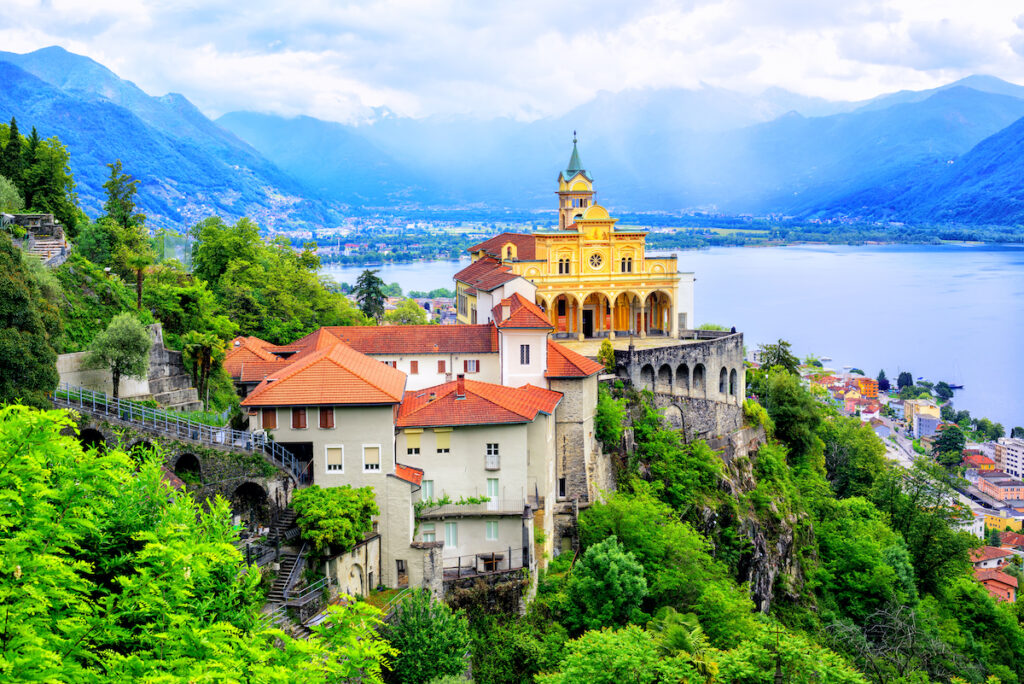 The town of Locarno in Switzerland.