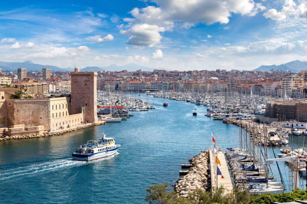 The town of Marseille, France.