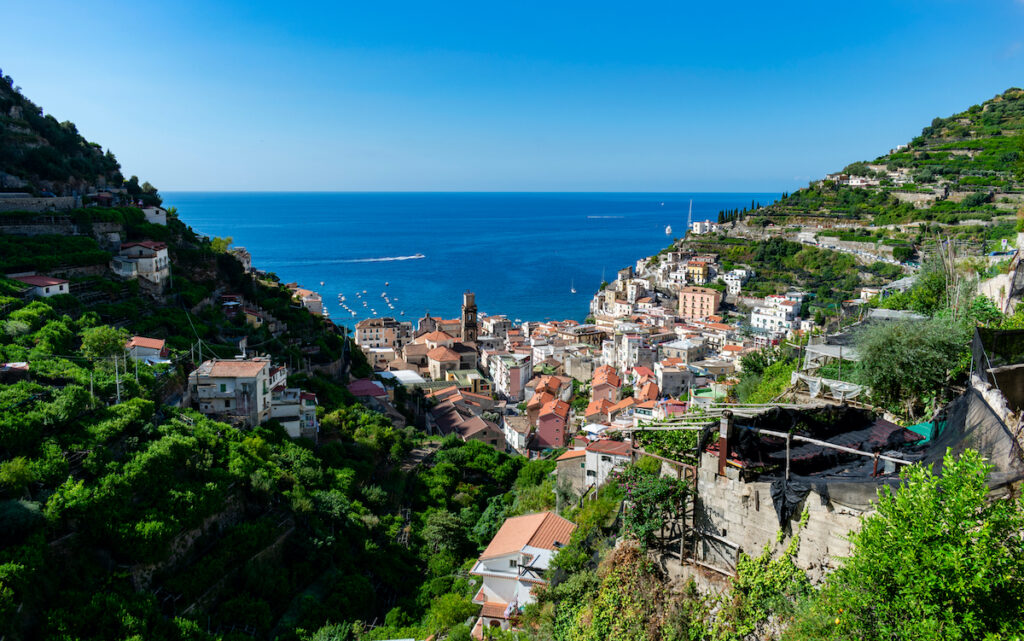 The town of Minori on the Amalfi Coast of Italy.