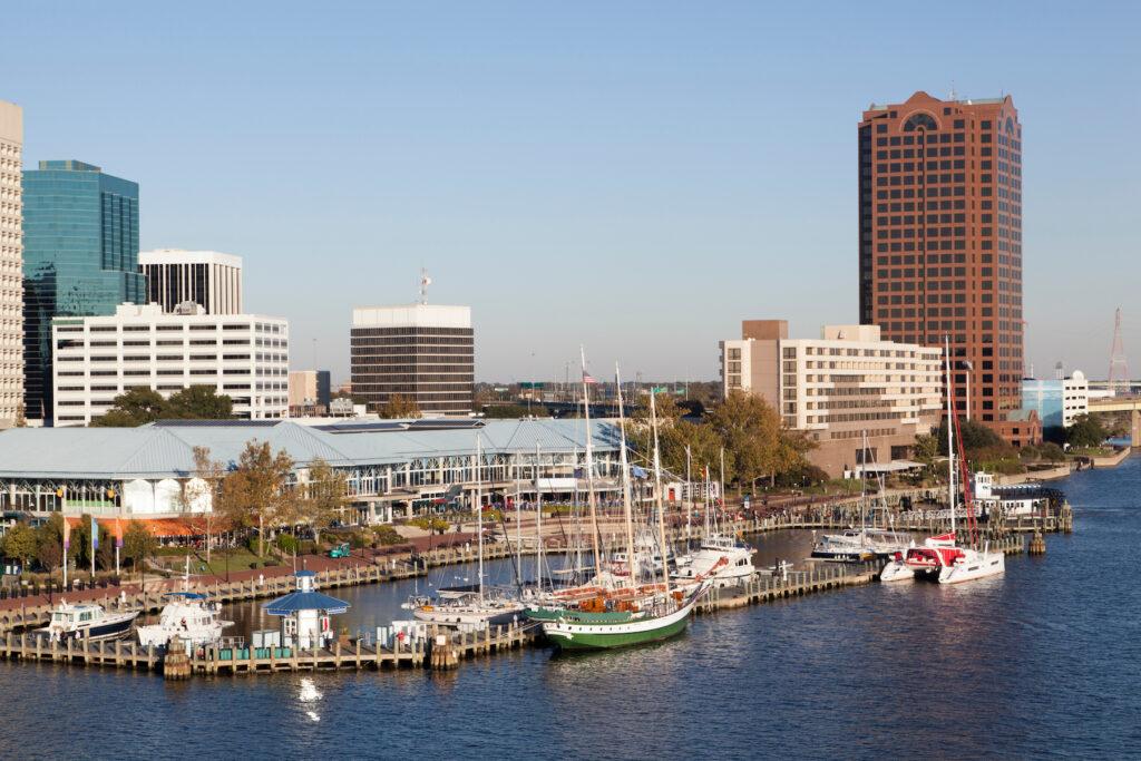 The town of Norfolk, Virginia.