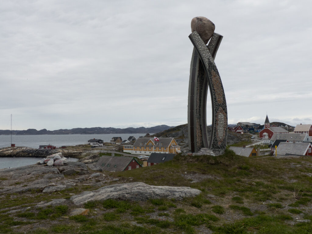The town of Nuuk in Greenland.