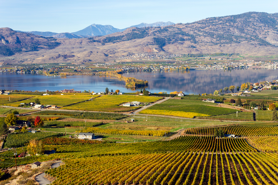 The town of Osoyoos in Canada.