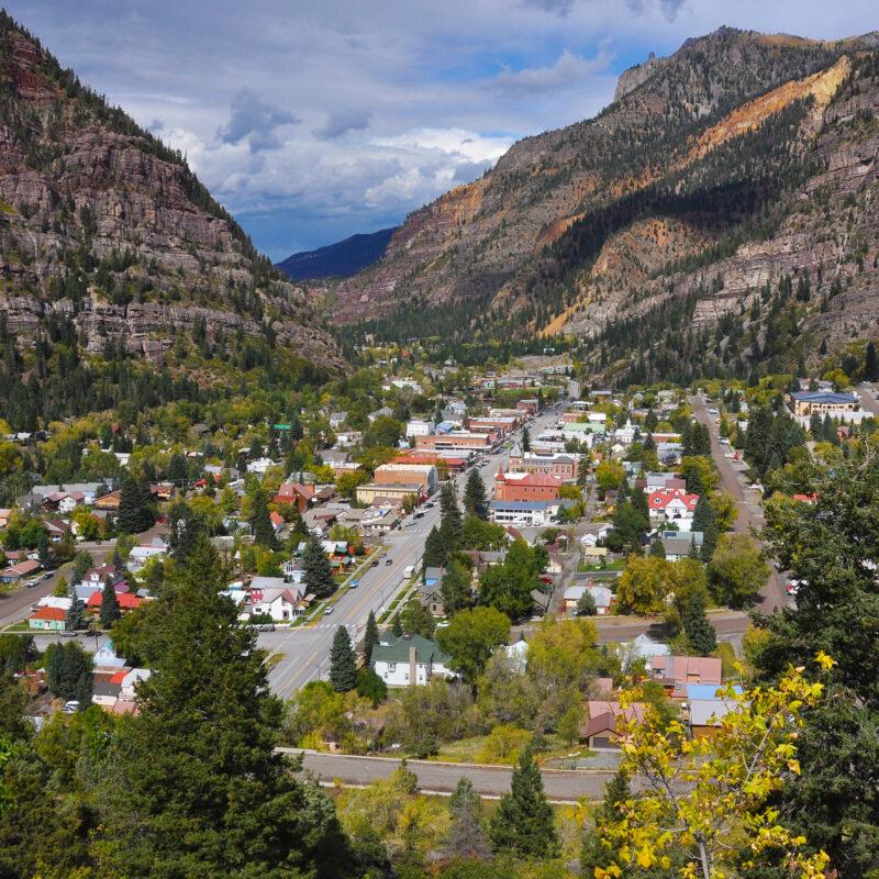 The town of Ouray, Colorado.