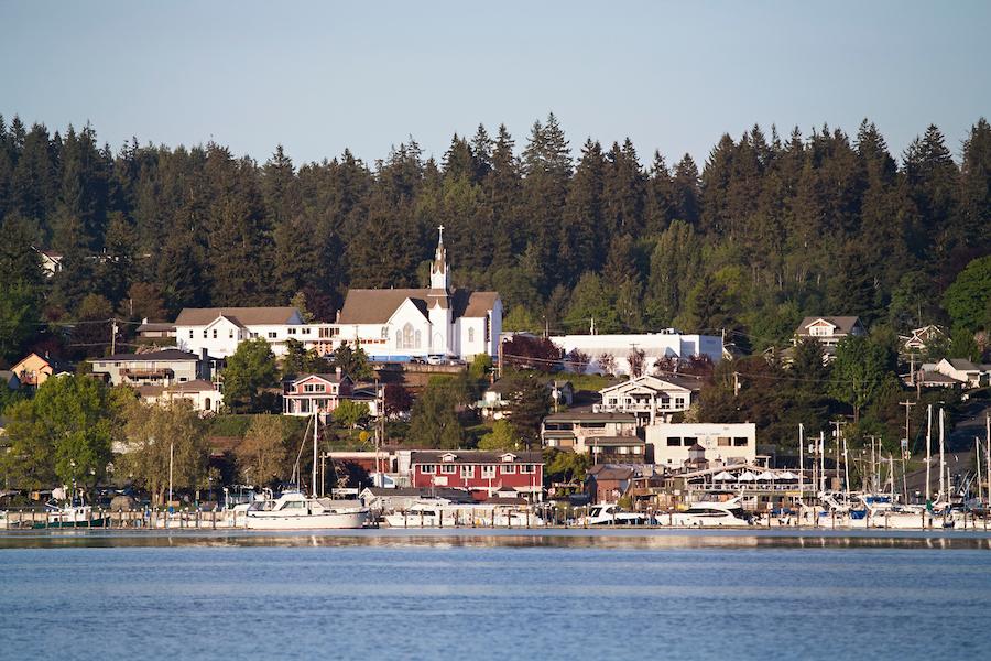 The town of Poulsbo, Washington.