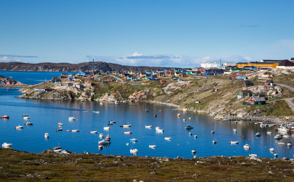The town of Qasigiannguit in Greenland.