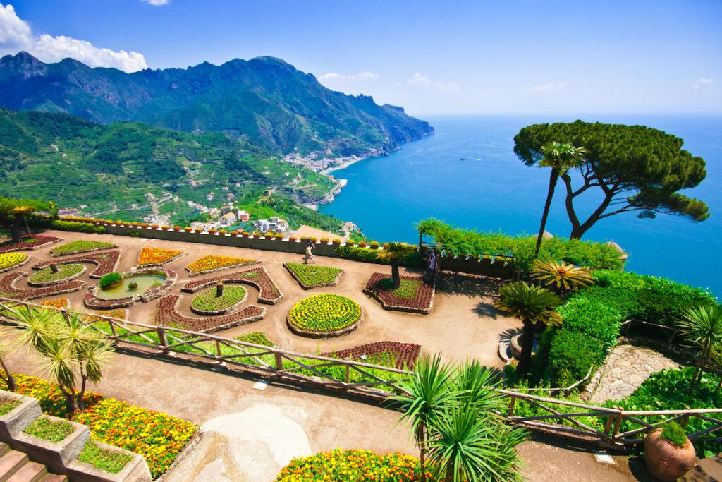 The town of Ravello on the Amalfi Coast of Italy.