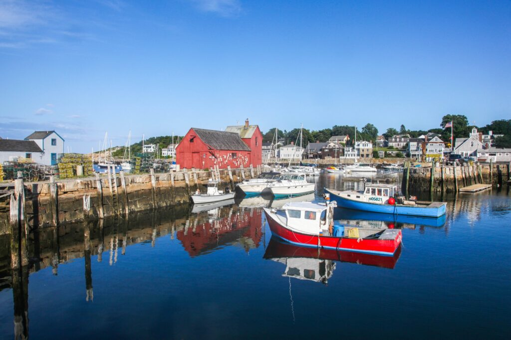 The town of Rockport, Massachusetts.