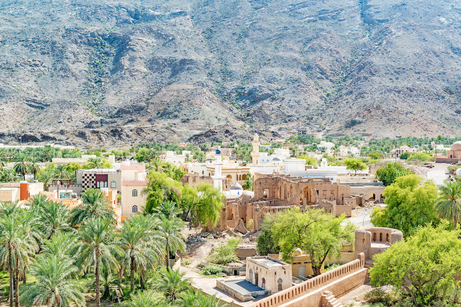 The town of Rustaq in Oman.