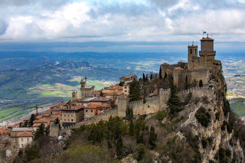The town of San Marino.