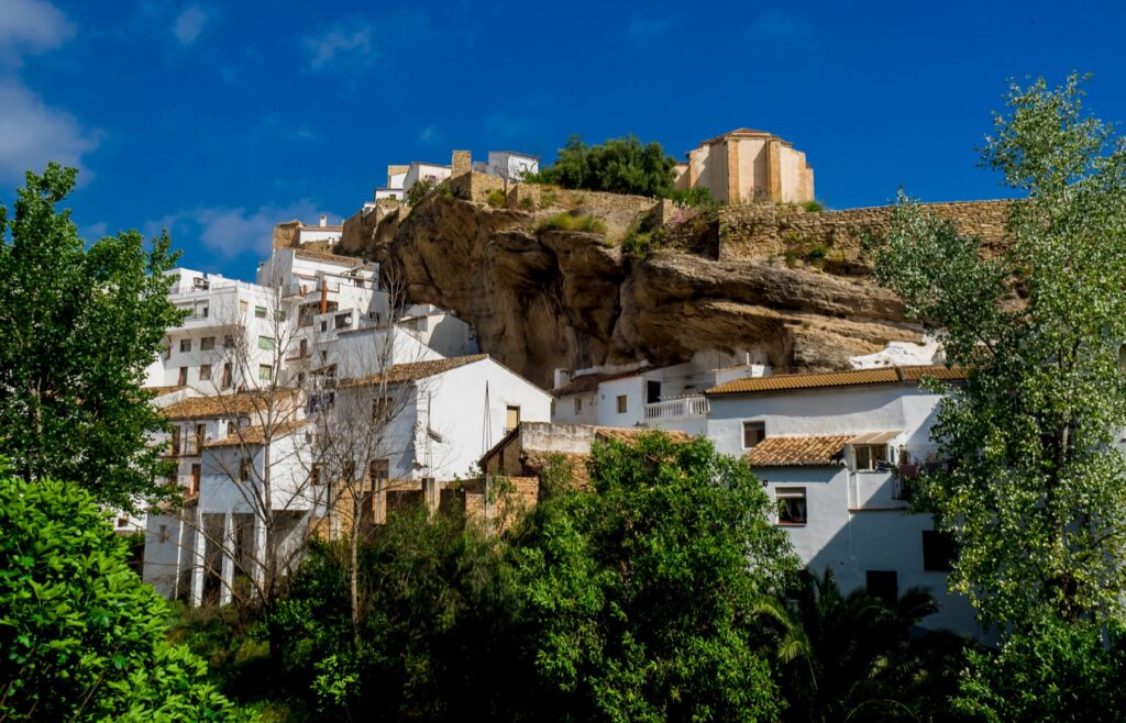 The town of Setenil De Las Bodegas.
