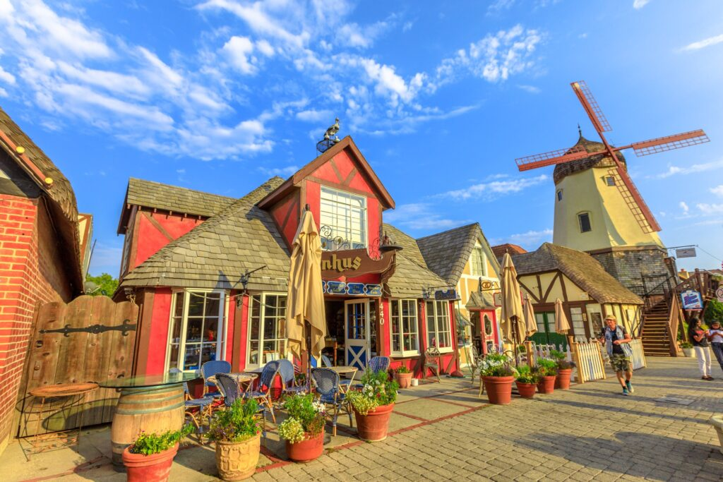 The town of Solvang in California.