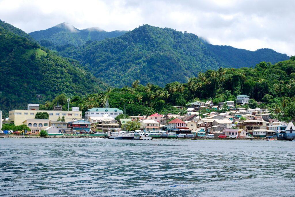 The town of Soufrière, Saint Lucia.