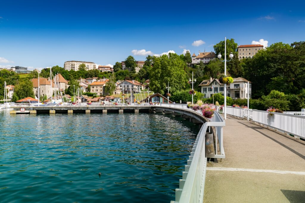 The town of Thonon-Les-Bains in France.