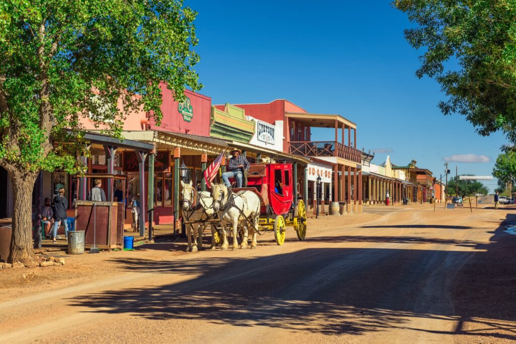 The town of Tombstone in Arizona.