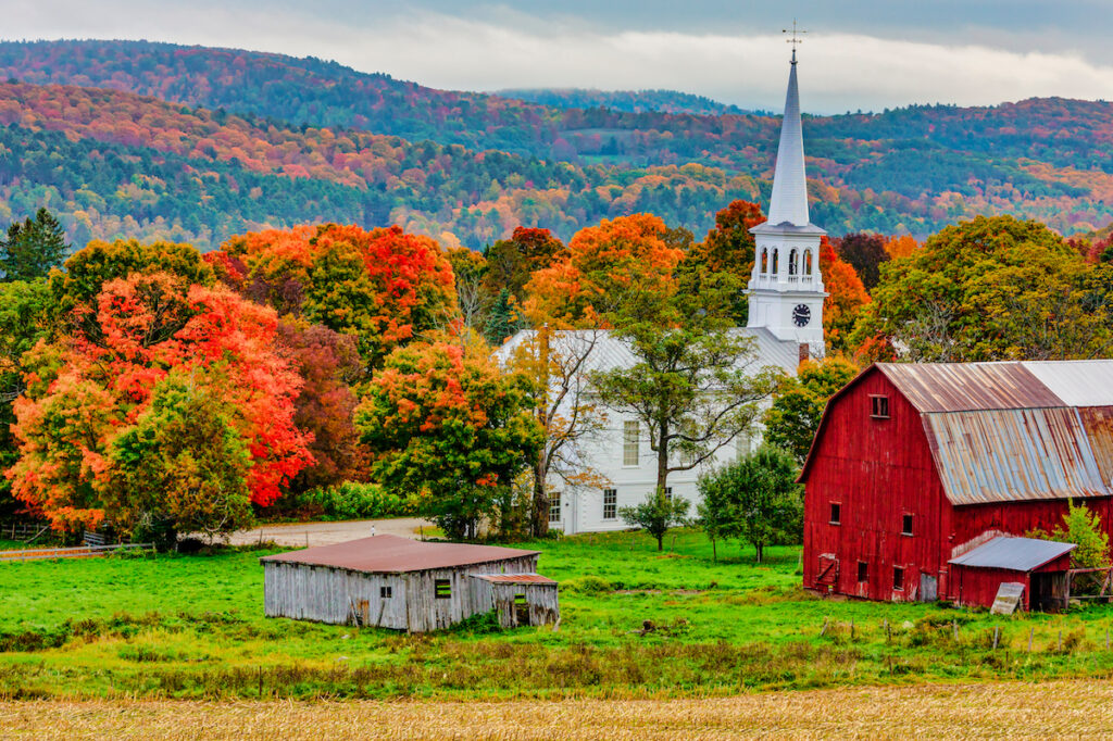 The town of Woodstock, Vermont.