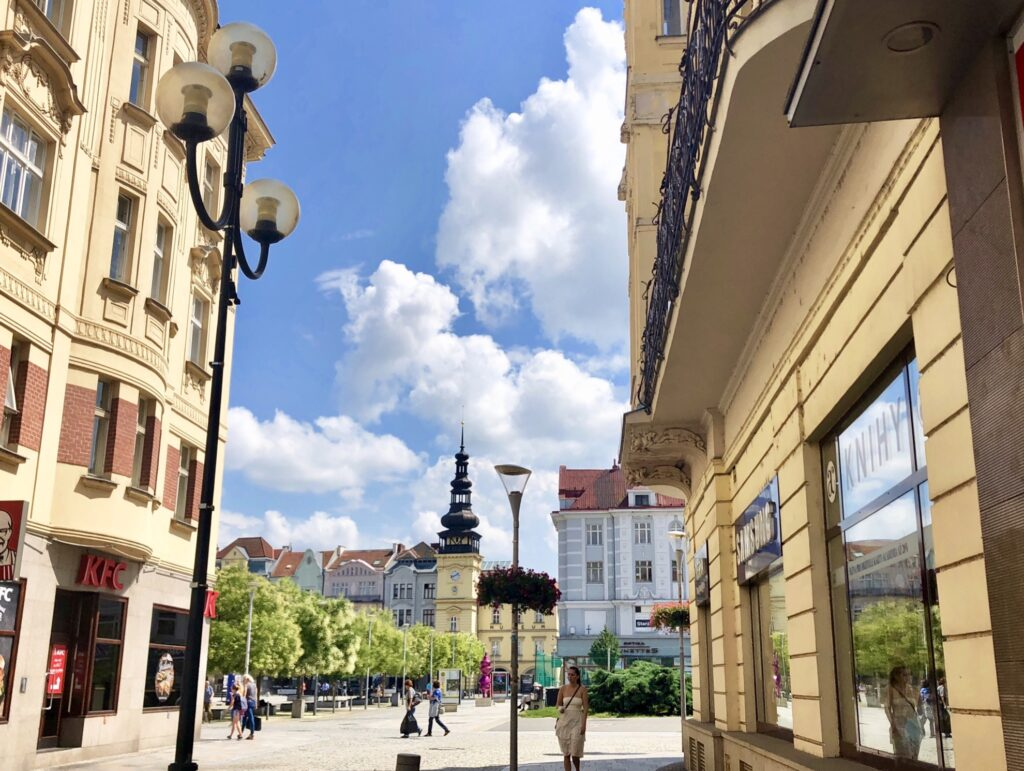 The Town Square of Ostrava.