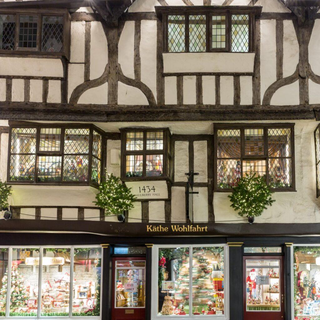 The traditional German shop Kathe Wohlfahrt in York.