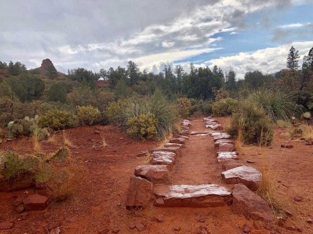 The trail to Boynton Canyon in Sedona, Arizona.