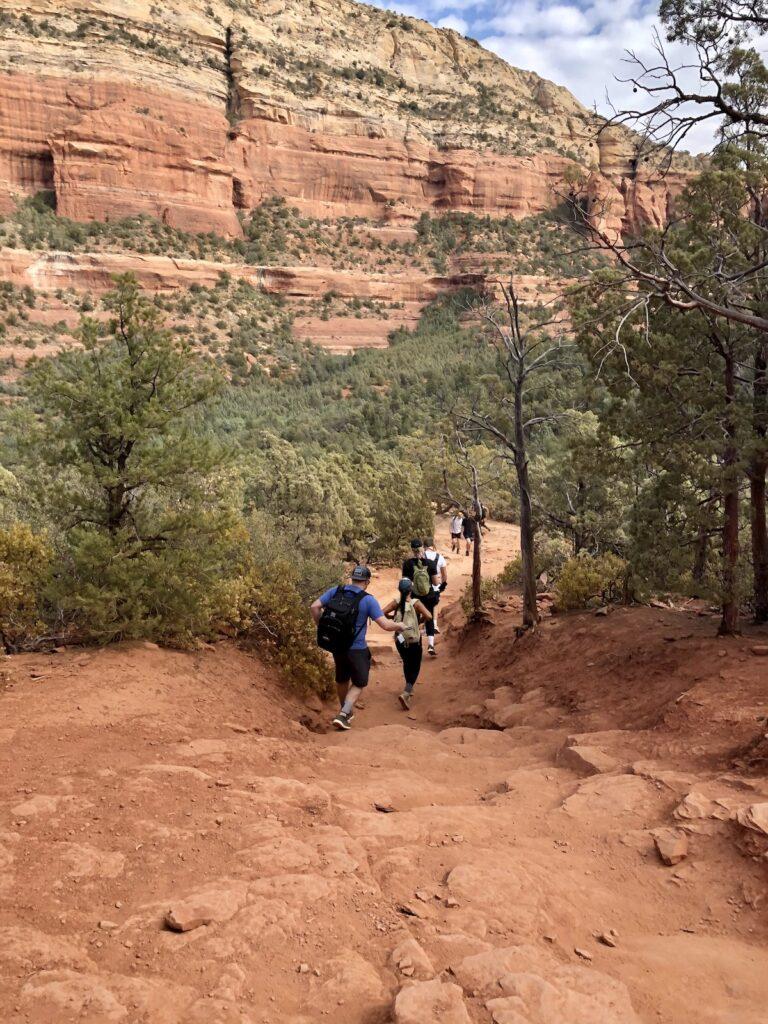 The trail to the Devil's Bridge.