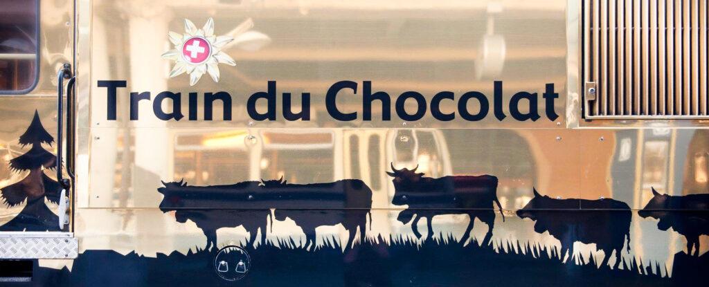 The Train du Chocolat in Switzerland.