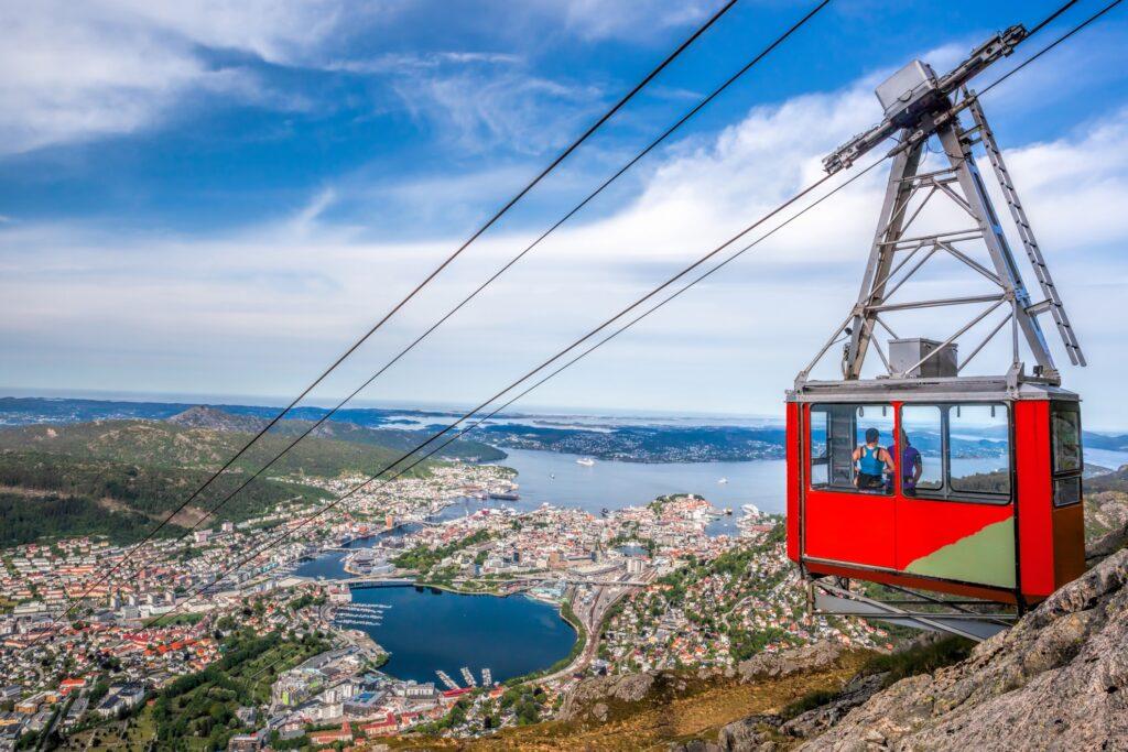 The tram in Bergen, Norway.