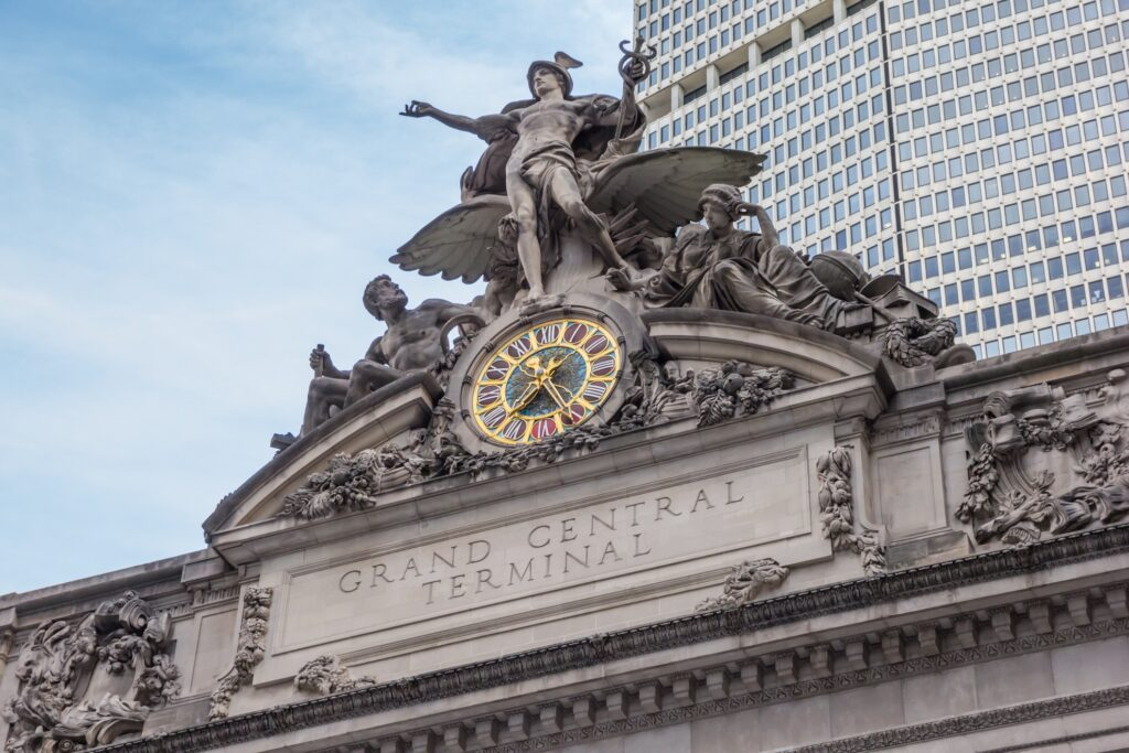 The Transportation statue at Grand Central Station.